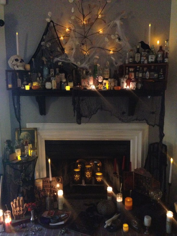 my potion and spell display halloween decorations spooky diy
