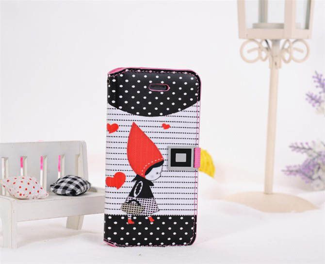 iPhone 5 & iPhone 5s Little Red Riding Hood Wallet Case