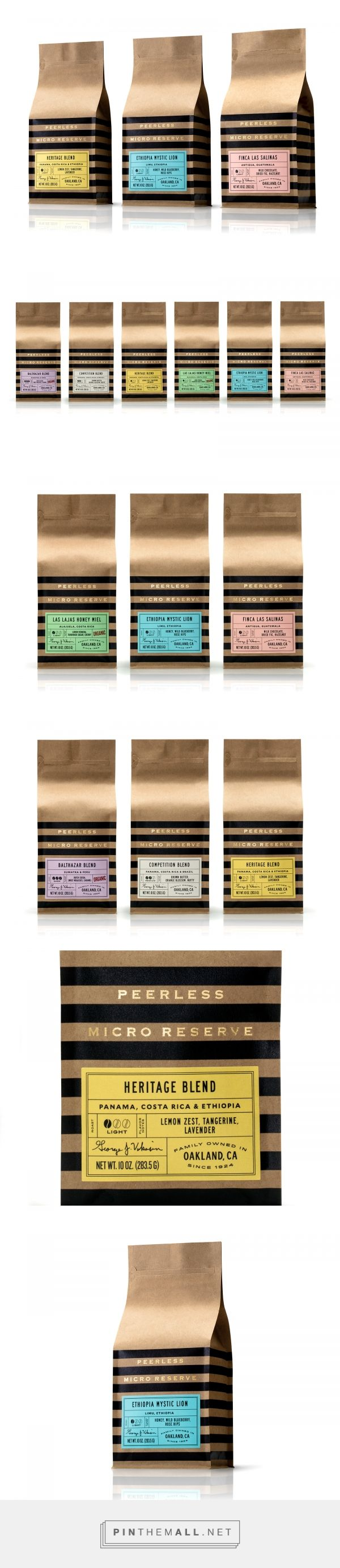 Peerless Micro Reserve packaging design by Pavement - http://www.packagingoftheworld.com/2018/01/peerless-micro-reserve.html