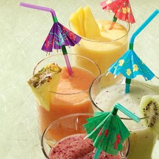 Healthy Smoothie Recipes - Easy recipes for fruit smoothies perfect for breakfast or a snack. #summer #smoothies