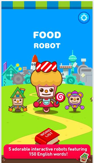 Let's learn new vocabulary words with adorable robot buddies! A great mini-game teaching alphabet and spelling for 3+ yrs old (iphon/ipod/ipad) #kidsapps