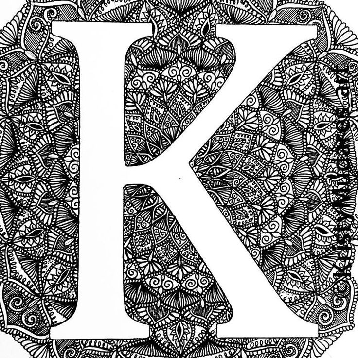 Hi new followers! Getting back into my drawing starting with my favourite letter  #K