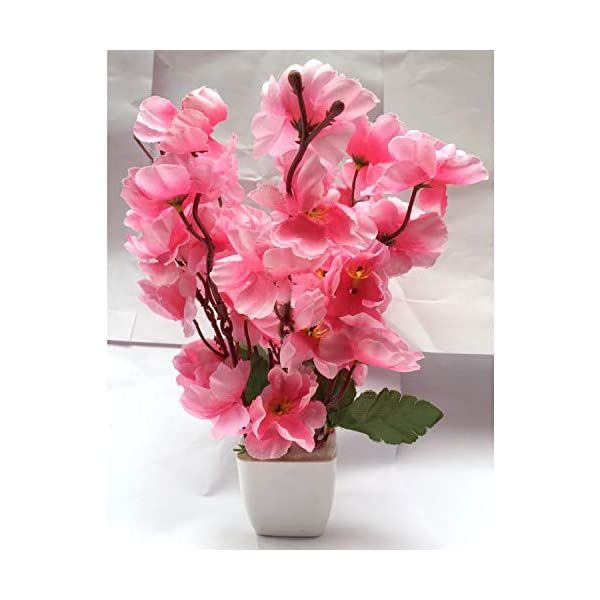 Celebration Artificial Pink Cherry Blossom Plant Pot Flower Vase For Home Decoration Flower Pot With Artificial Flowers 22cm Silk Flower Arrangements In 2021 Flower Pots Artificial Cherry Blossom Tree Flower Arrangements