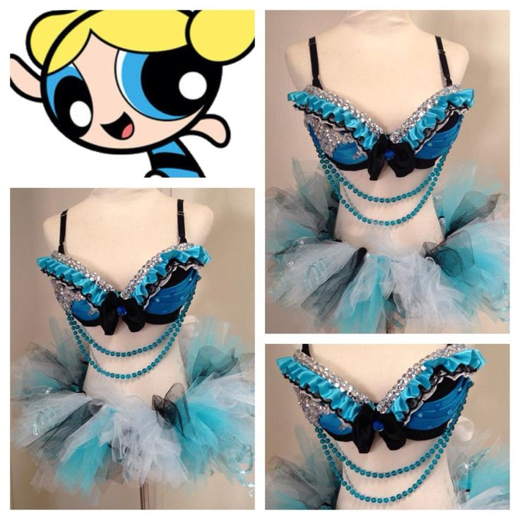 Bubbles rave outfit. Could also be a cool showgirl or burlesque outfit.