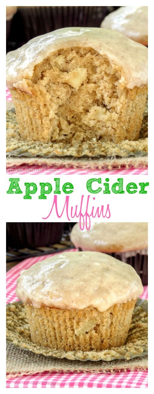 Apple Cider muffins. These super moist and flavorful muffins are the perfect breakfast for a chilly Fall morning!