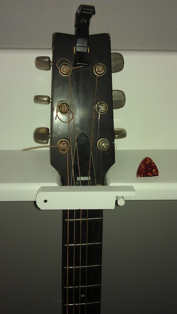 diy 4 guitar wall hanger for the house reno pinterest guitar wall hanger guitar wall. Black Bedroom Furniture Sets. Home Design Ideas