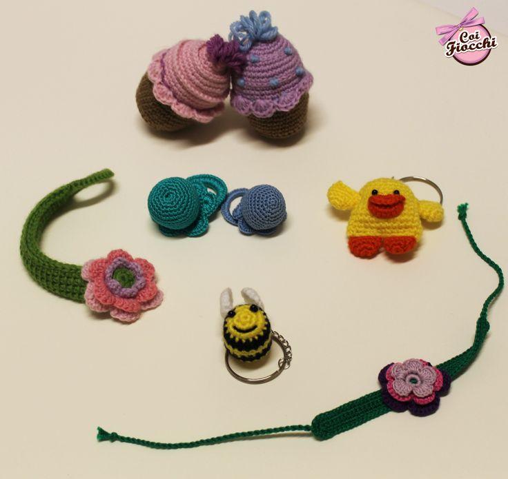 Idee regalo e pensierini per nascite e battesimi realizzate con la tecnica dell'amigurumi