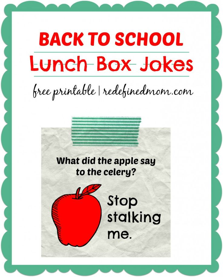 Get your kid pumped up about going back to school with this fun Back To School Lunch Box Jokes Printable!