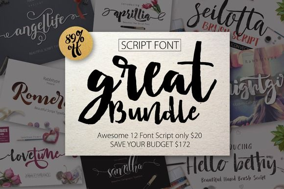 FONT BUNDLE (Great Bundle) -89% OFF by Rabbittype on @creativemarket