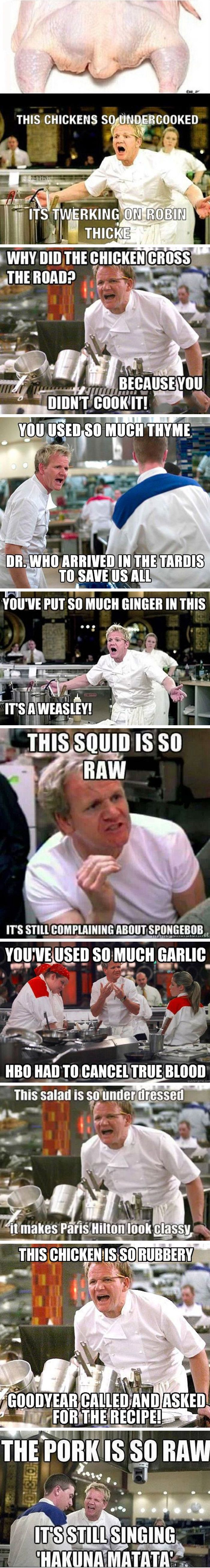 Gordon Ramsay anger. Oh my heavenly hash I died when I read these #wdspublishing (how can i lose weight)