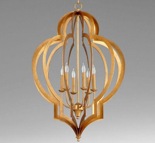 Vertigo 24″ Dia Large Wood and Iron Pendant