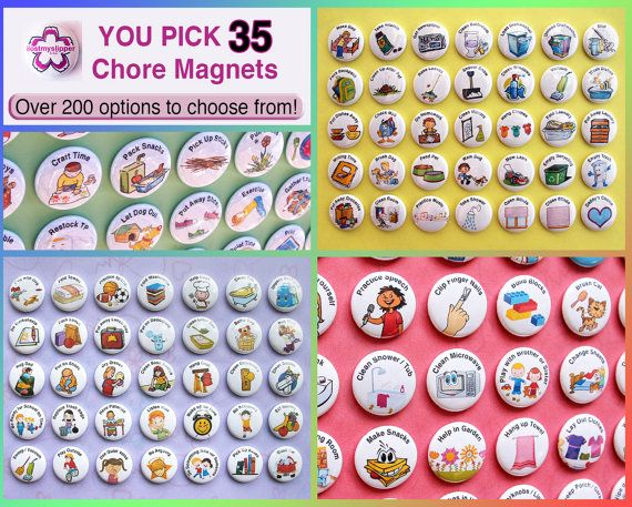 YOU PICK 35 Chore Magnets. 1 Kids Activities To by ilostmyslipper