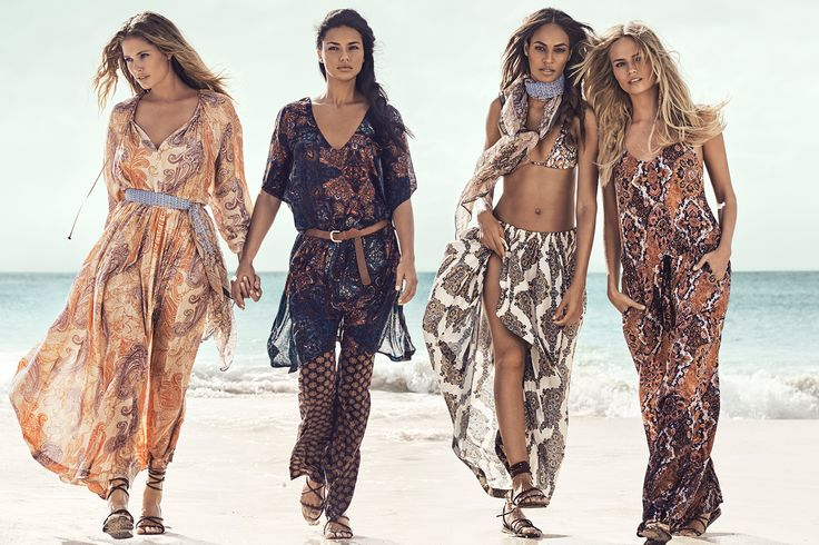 H&M summer 2015 campaign with Doutzen Kroes, Adriana Lima, Joan Smalls and Natasha Poly