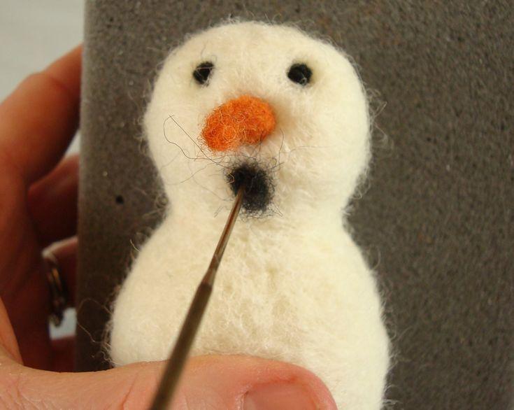 Needle Felted Snowman Tutorial