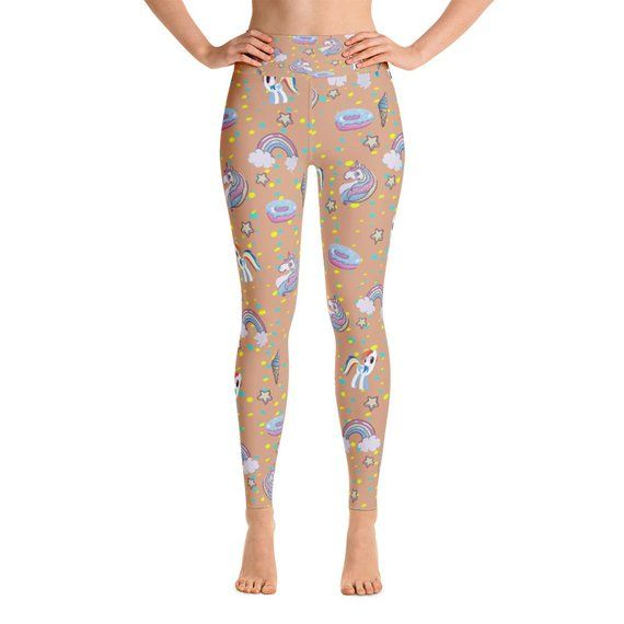 9148211823cd7 Dark Skin Tone Unicorn Yoga Leggings Capri Yoga Pants Sport | Etsy ...