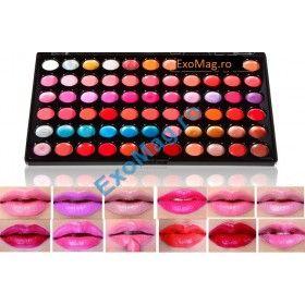 Trusa 66 nuante Lipgloss Ruj - http://exomag.ro/Truse-de-machiaj-Blush-farduri-eyeshadow-eyeliner-lipgloss/trusa-machiaj-ruj-lipgloss-66-culori-kisses-in-the-wonderland.html
