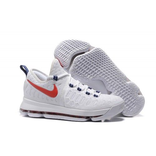 Free Shipping 6070 OFF Nike Kevin Durant KD 9 USA WhiteUniversity RedRace Blue 2016 For Sale TpbSR