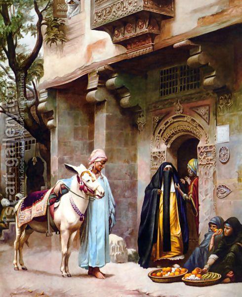 Scene de rue au Caire - H. G. Birchall - Oil Painting Reproductions