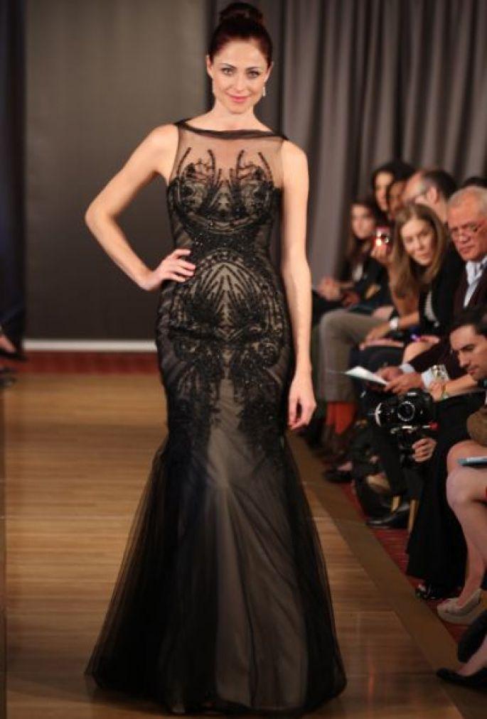 Robe de mariée noire Ines Di Santo 2013