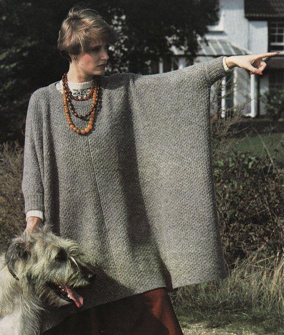 Vintage Machine Knitting Pattern Instructions to Make Oversize Jumper