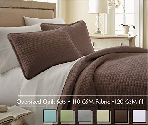 Our most luxurious, softest and highest quality microfiber quilt sets. Made with high strength microfiber yarns, our quilt sets are long lasting, shrinkage-free, and provide silky soft feel and lustrous finish. Part of our signature collection, these quilt sets are made with 110 GSM, double-brushed microfiber fabric. The filling is 120 GSM polyester fill. Made under our trademarked Brand SouthShore Fine Living, Inc, a lot of attention has been paid to every aspect of the product. Starting…
