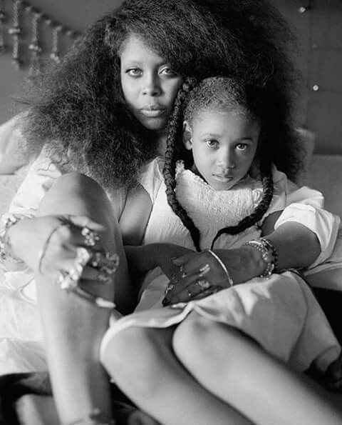 This image of Erykah Badu with one of her beautiful daughters.