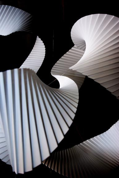 Beta II: Richard Sweeney's installation using a continuous length of pleated paper. Denmark.