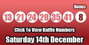 This is the #lotto results for Saturday 14th December if you want to see the Lotto raffle numbers you can do so by visiting: http://lotterypod.com/lotto-results-14th-december/ #lottery #lotto #lotto raffle