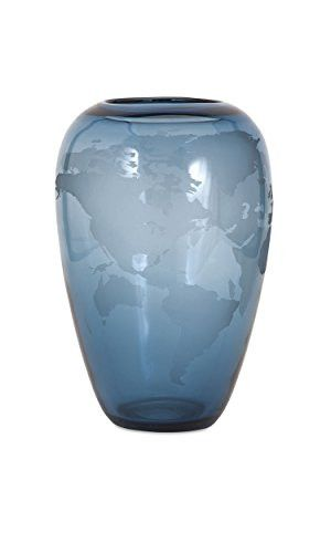 Prime Décor Collection Beth Kushnick Global Small Glass Vase 13.5 inch h x 9.5 inch d