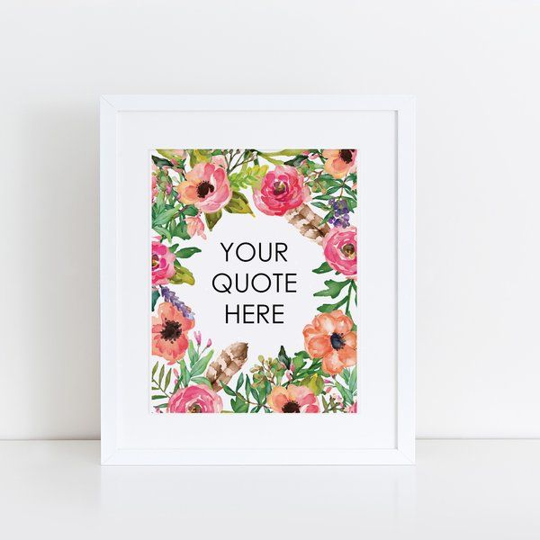Print - Sweet Floral, Personalized