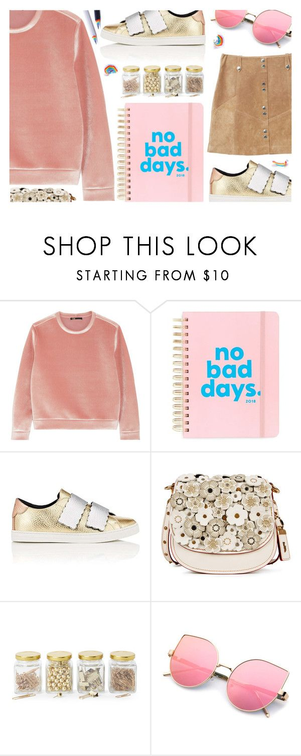 """No Bad Days"" by ana3blue on Polyvore featuring Maje, ban.do, Fendi, Coach, Argento SC and MANGO"