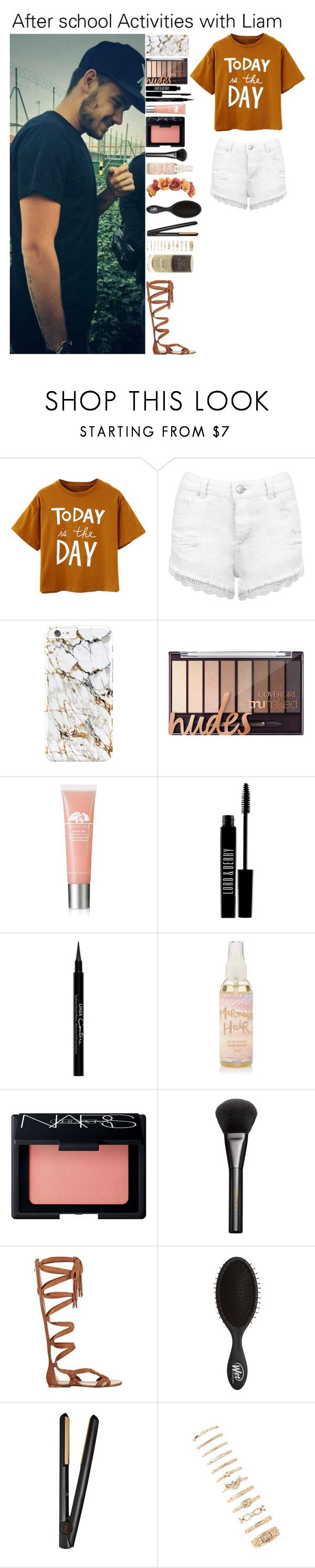 """After school Activities with Liam"" by kateremington-1 ❤ liked on Polyvore featuring Payne, Miss Selfridge, Origins, Lord & Berry, Givenchy, NARS Cosmetics, Gucci, Sigerson Morrison, GHD and Forever 21"