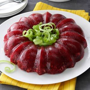 Molded Cranberry-Orange Salad from Taste of Home -- shared by Carol Mead of Los Alamos, New Mexico  #Thanksgiving  #Jello_salad   #Jello_mold