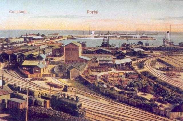 The harbor Constanta Romania