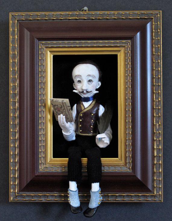 Edgar Allan Poesculpted figure/doll in by FriedericyDolls on Etsy, $500.00