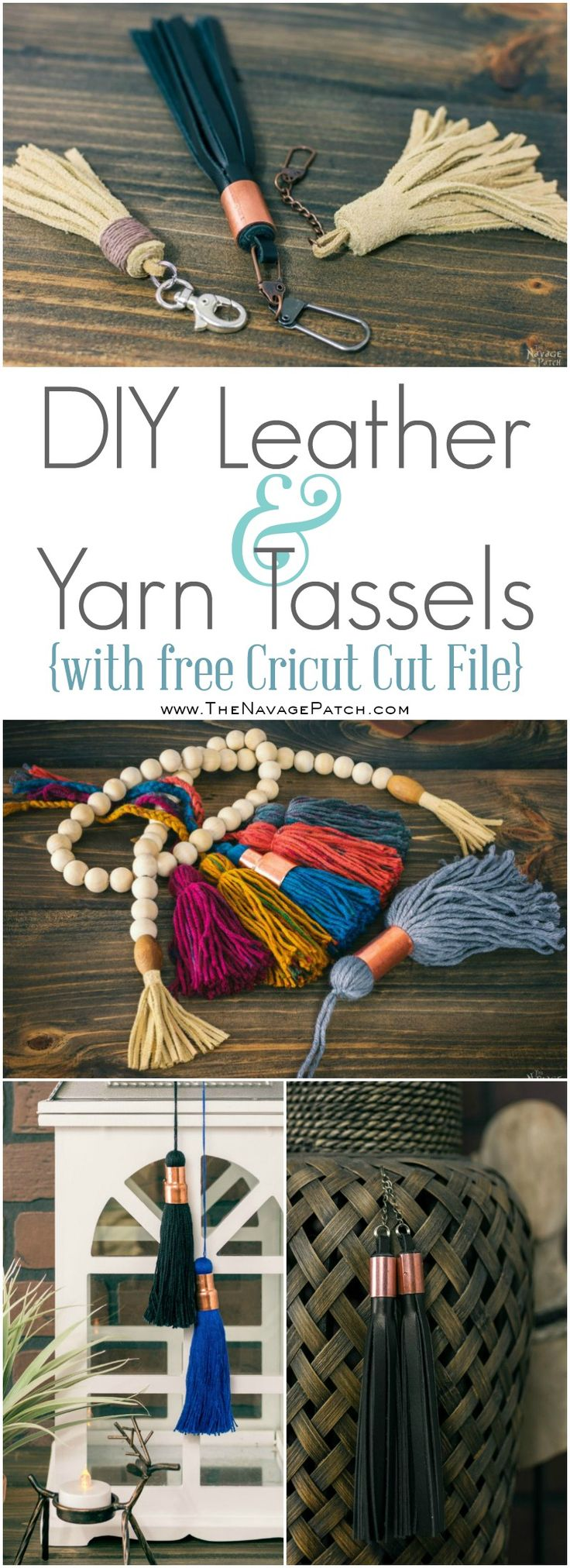 DIY Leather and Yarn Tassels