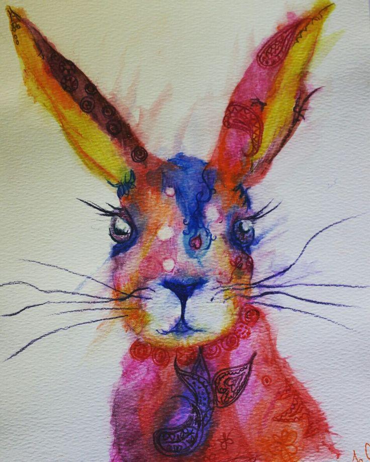 Ink african animals - Paisley Rabbit by #joannacookeart.com