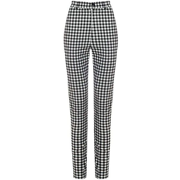 Vintage Inspired Maddie High Waisted Black Gingham Trousers ($37) ❤ liked on Polyvore featuring pants, high rise trousers, vintage trousers, high-waisted pants, highwaist pants and high rise pants