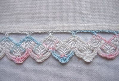crochet edging on pillowcase - Google Search