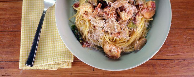 Use gluten free pasta Cajun Shrimp Pasta Recipe | The Chew - ABC.com