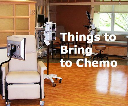 Your first chemo treatment is coming up and you're not sure what to expect.As a follow-up to our first post on 22 Things to Bring to Chemo, we have added 15 more things thanks to Facebook Contributors.Getting some of these things together might ease your anxiety about going to your ...