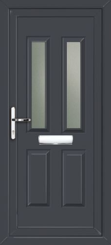 Glazed Anthracite Grey UPVC Front Door