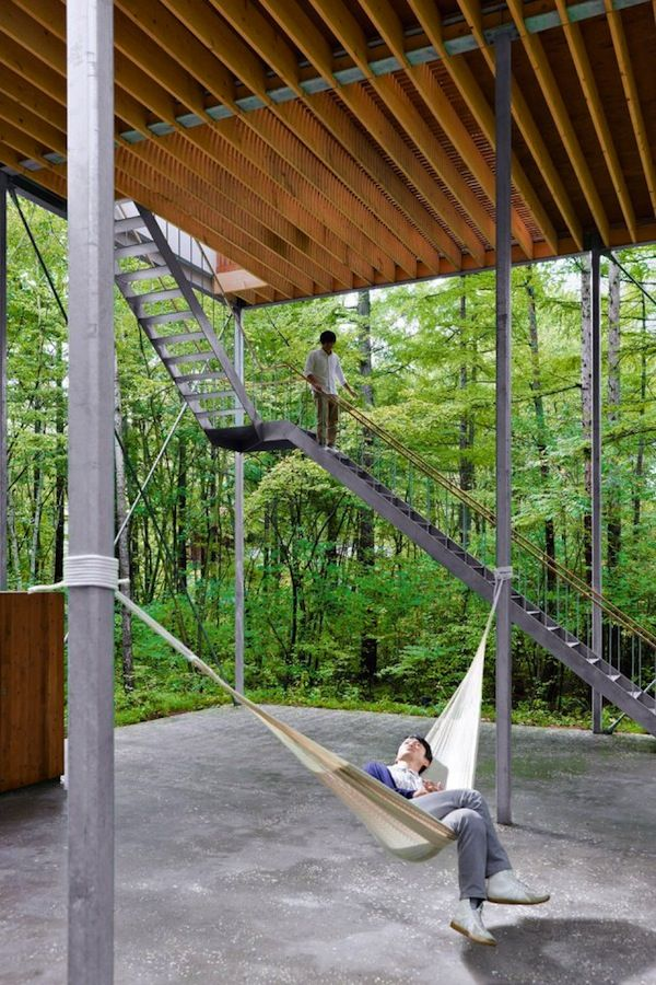 Pilotis in a Forest by Go Hasegawa – Gunma, Japan