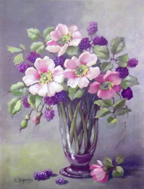 Flowers and berries ~ Chris Repasy