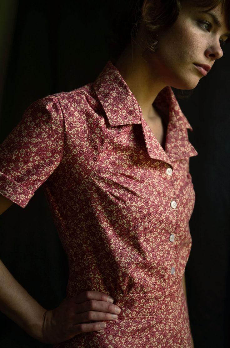 State Fair 1935 Shirt Dress- dart detail
