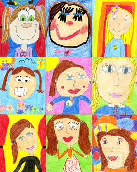 Are These Self Portrait Drawings From Girls Aged 9 To 11 At St Patrick