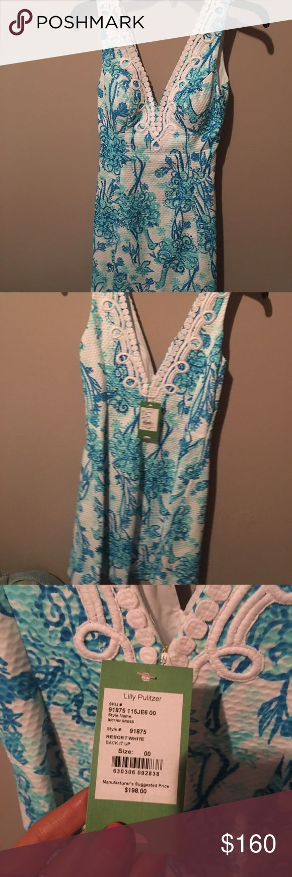 """Lilly Pulitzer """"Back It Up"""" Dress **SALE** New with tags Brynn Dress. So gorgeous and perfect for weddings. 💙 Very flattering as well. I love it, just don't really ever reach for it. SOLD! Lilly Pulitzer Dresses Mini"""