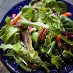 Mixed Green Salad with Pecans, Goat Cheese,Honey Mustard Vinaigrette