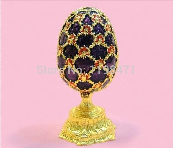 Européenne boîte à bijoux princesse décorations de mariage oeuf de pâques ornement anneau boîte artisanat cadeaux artisanat d'oeuf
