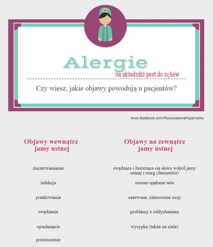 Alergie na pastę do zębów